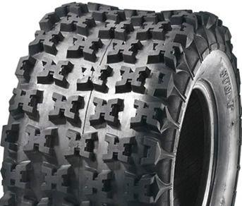 "ASSEMBLY - 8""x7.00"" Steel Rim, 20/11-8 6PR A027 Knobbly ATV Tyre,25mm Keyed Bush"
