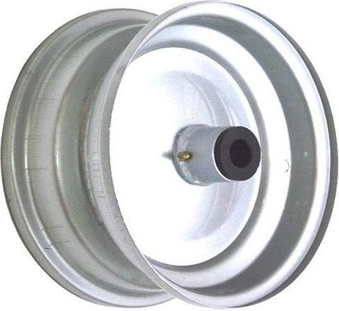 """6""""x82mm Steel Rim, 35mm Bore, 82mm Hub Length, 35mm x ½"""" Nylon Bushes"""