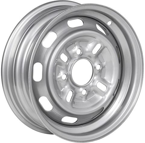 "13""x4.50"" Silver Rim, 4/4¼"" PCD, 64mm Bore, ET+30, (Cortina/Escort fitment)"