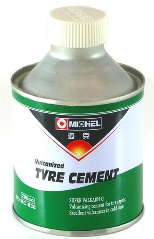 Taitec Vulcanized Tyre Cement (vulcanising glue), 250ml/200cc