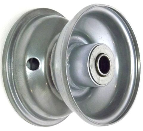 "4""x2.50"" Steel Rim, 2"" Bore, 81mm Hub Length, 2""x¾"" Flange Bearings"