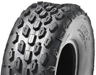 "ASSEMBLY - 6""x82mm Steel Rim, 145/70-6 6PR A015 Knobbly ATV Tyre, 1"" Bushes"