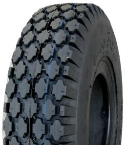 410/350-4 *SOLID AIR* V6602 Goodtime Diamond Solid Rubber Black Tyre