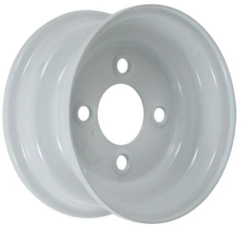 """8""""x7.00"""" White Steel Heavy Duty Hydralada Rim, 4/4""""PCD, 750kg rating"""