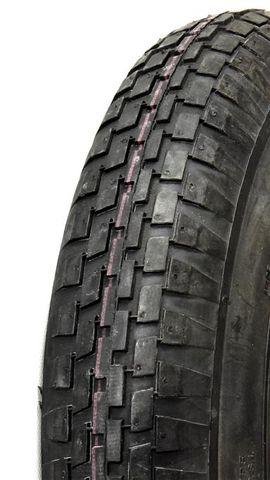 "ASSEMBLY - 8""x65mm Plastic Rim, 300-8 4PR V6635 Block Tyre, ¾"" FBrgs"
