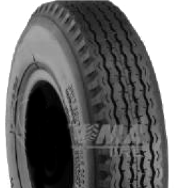 "ASSEMBLY - 4""x55mm Red Plastic Rim, 410/350-4 4PR K805 Road Tyre, ¾"" FBrgs"