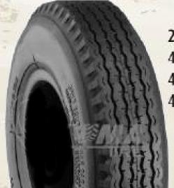 "ASSEMBLY - 4""x55mm Red Plastic Rim, 410/350-4 4PR K805 Road Tyre, 20mm FBrgs"