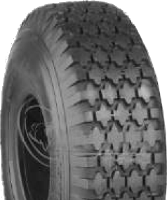 "ASSEMBLY - 4""x55mm Red Plastic Rim, 410/350-4 4PR K806 Diamond Tyre, 20mm FBrgs"