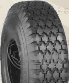 "ASSEMBLY - 4""x55mm Red Plastic Rim, 410/350-4 4PR K806 Diamond Tyre, 1"" Bushes"