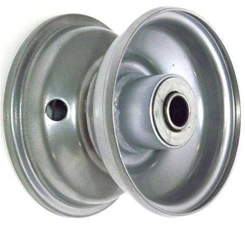 "4""x2.50"" Steel Rim, 35mm Bore, 75mm Hub Length, 35mm x 16mm Flange Bearings"