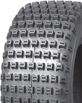 """ASSEMBLY - 8""""x5.50"""" Galv Rim, 4/4"""" PCD, 18/950-8 4PR P322 Knobbly Tyre"""