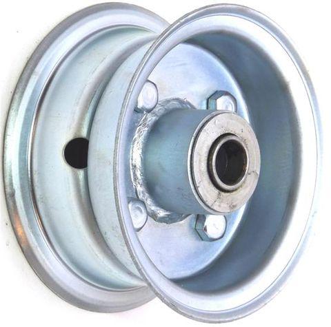 """4""""x2.00"""" 2-Pc Zinc Coated Rim, 35mm Bore,62mm Hub Length,35mm x 16mm Flange Brgs"""