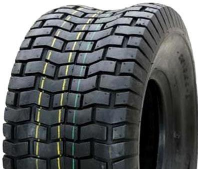 "ASSEMBLY - 4""x55mm Red Plastic Rim, 9/350-4 4PR V3502 Turf Tyre, 16mm Bushes"