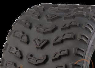 """ASSEMBLY - 8""""x5.50"""" Galv Rim, 4/4"""" PCD, 19/7-8 6PR KA407 Knobbly ATV Tyre"""
