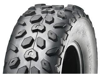 """ASSEMBLY - 8""""x5.50"""" Galv Rim, 4/4"""" PCD, 19/7-8 6PR A014 Knobbly ATV Tyre"""