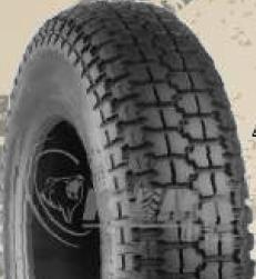 """ASSEMBLY - 8""""x65mm Steel Rim, 1"""" Plain Bore, 300-8 4PR K807 HS Block Tyre"""