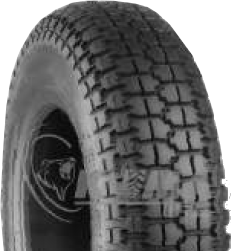 "ASSEMBLY - 8""x65mm Plastic Rim, 300-8 4PR K807 HS Block Tyre, ¾"" FBrgs"