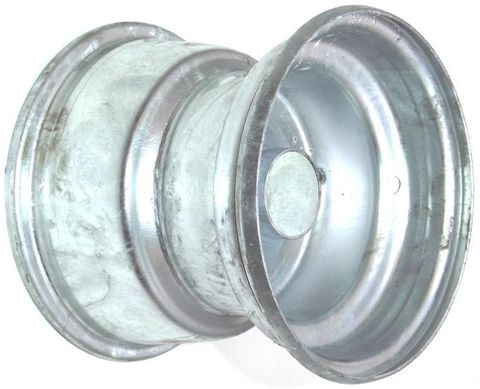 "8""x5.50"" Galvanised Rim, 2"" Bore, 78mm Hub Length, 2""x¾"" Nylon Bushes"