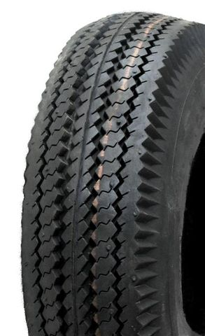"ASSEMBLY - 4""x55mm Red Plastic Rim, 410/350-4 4PR V6603 Road Tyre, 15mm HS Brgs"