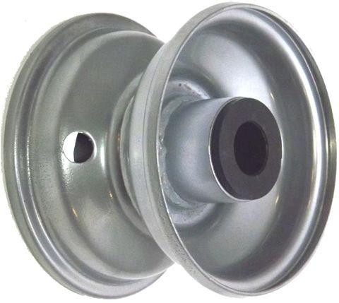"""4""""x2.50"""" Steel Rim, 2"""" Bore, 81mm Hub Length, 2""""x1"""" Nylon Bushes"""