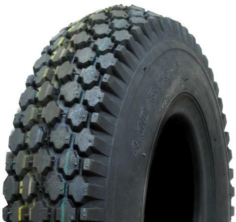 "ASSEMBLY - 4""x55mm Red Plastic Rim, 410/350-4 4PR V6602 Diamond Tyre, ½"" FBrgs"