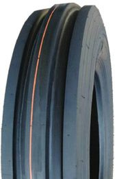 "ASSEMBLY - 8""x2.50"" Steel Rim, 400-8 4PR V8502 3-Rib Tyre, 20mm HS Brgs"
