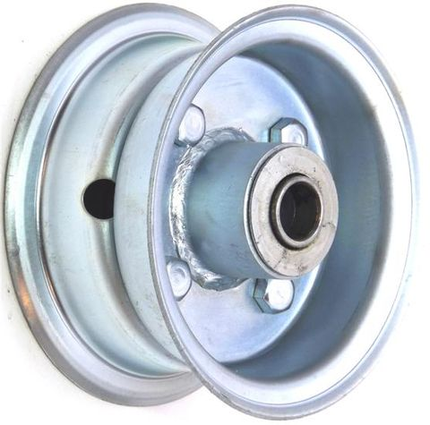 """4""""x2.00"""" 2-Pc Zinc Coated Rim, 35mm Bore,62mm Hub Length,35mm x 20mm Flange Brgs"""