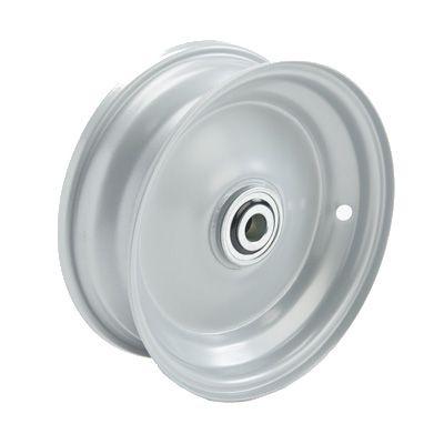 "8""x65mm Steel Rim, 2"" Bore, 46mm Hub Length, 1"" Flange Bearings flush to centre"