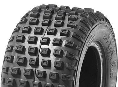 """ASSEMBLY - 6""""x4.50"""" Steel Rim, 145/70-6 4PR V1509 Knobbly ATV Tyre,25mmKeyedBush"""