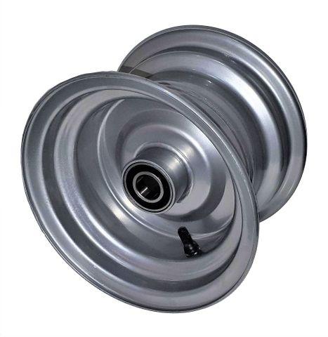 """8""""x5.50"""" Steel Rim, 52mm Bore, 25mm HS Bearings 90mm hub length, no cap or seal"""