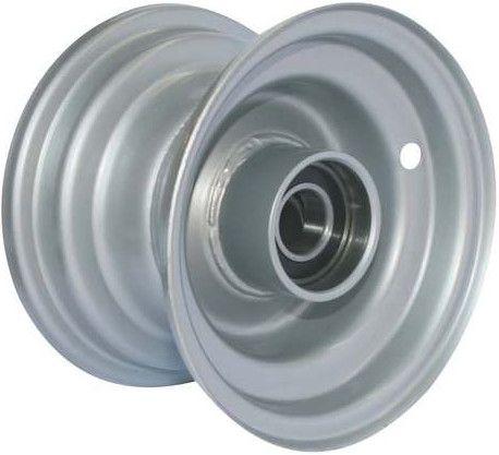 """6""""x4.50"""" Galv Rim, 52mm Bore, 85mm Hub Length, 52mm x 25mm High Speed Bearings"""