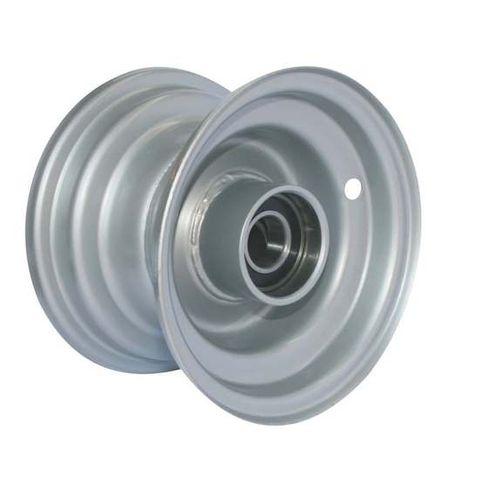 """6""""x4.50"""" Galv Rim, 52mm Bore, 85mm Hub Length, 52mm x 20mm High Speed Bearings"""