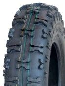 """ASSEMBLY - 6""""x4.50"""" Galv Rim, 13/500-6 6PR V8505 Knobbly Tyre, 25mm Keyed Bush"""
