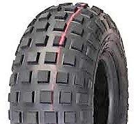 """ASSEMBLY - 6""""x4.50"""" Galv Rim, 15/600-6 2PR HF240B Knobbly Tyre, 1"""" HS Brgs"""