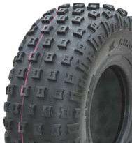 "ASSEMBLY - 6""x4.50"" Galv Rim, 145/70-6 4PR V1509 Knobbly ATV Tyre,25mm TaperBrg"
