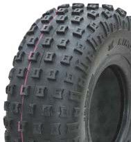 """ASSEMBLY - 6""""x4.50"""" Galv Rim, 145/70-6 4PR V1509 Knobbly ATV Tyre,NO BRGS/BUSH"""