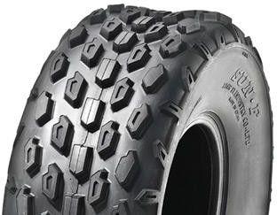 "ASSEMBLY - 6""x4.50"" Galv Rim, 145/70-6 6PR A015 Knobbly ATV Tyre,25mm TaperBrgs"