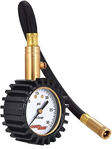 Accu-Chek RH30X 0-30 p.s.i. Dial Gauge with flexible hose and straight chuck