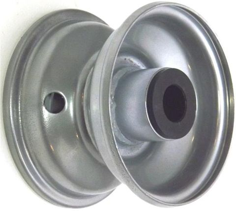 """4""""x2.50"""" Steel Rim, 35mm Bore, 75mm Hub Length, 35mm x ¾"""" Nylon Bushes"""