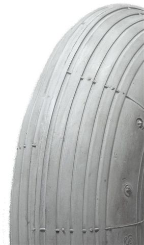 8x1¼ TT Innova IA2802 Ribbed Grey Wheelchair Tyre & Tube Set