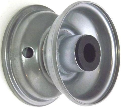 """4""""x2.50"""" Steel Rim, 35mm Bore, 75mm Hub Length, 35mm x 20mm Nylon Bushes"""