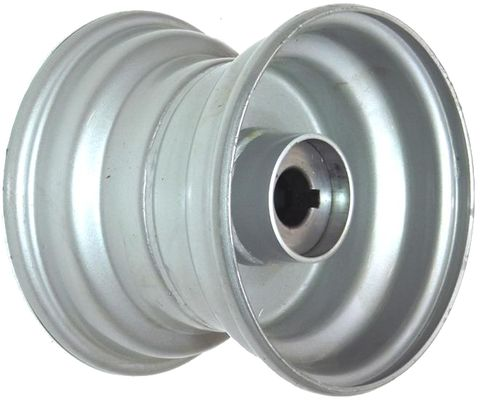 "6""x4.50"" Steel Rim, 52mm Bore, 85mm Hub Length, 52mm x 25mm Keyed & Plain Bushes"