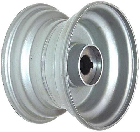 "8""x5.50"" Steel Rim, 52mm Bore, 85mm Hub Length, 52mm x 25mm Keyed & Plain Bushes"