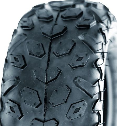 "ASSEMBLY - 6""x4.50"" P/ctd Rim, 2"" Bore,145/70-6 2PR UN704 Knobbly ATV Tyre,1""FBr"