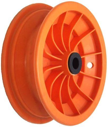 """8""""x65mm Red Plastic Rim, 35mm Bore, 70mm Hub Length, 35mm x ¾"""" Nylon Bushes"""