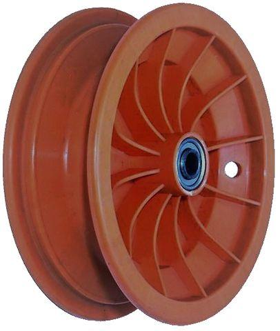 "8""x65mm Red Plastic Rim, 35mm Bore, 70mm Hub Length, 35mm x ¾"" Flange Bearings"
