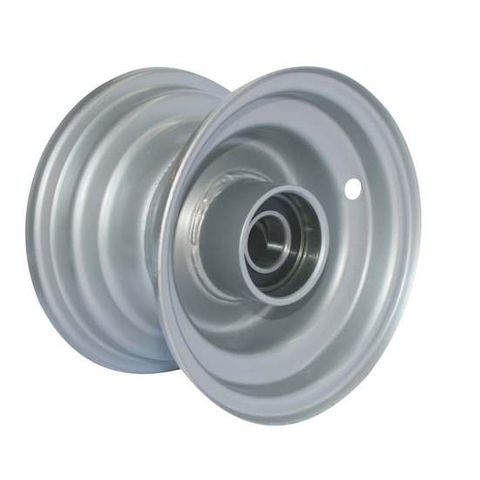 "6""x4.50"" Steel Rim, 52mm Bore, 85mm Hub Length, 52mm x 1"" High Speed Bearings"
