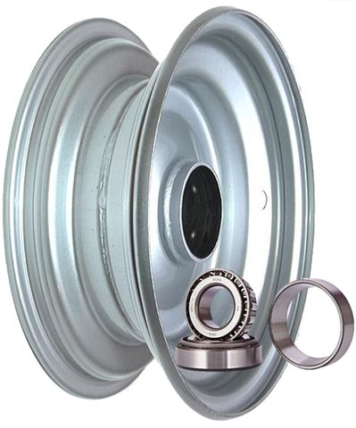 "6""x2.50"" Steel Rim, 52mm Bore, 85mm Hub Length, 52mm x 25mm High Speed Taper Brg"