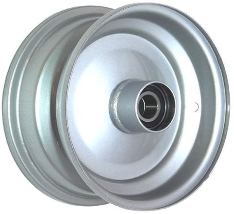 "6""x2.50"" Steel Rim, 52mm Bore, 85mm Hub Length, 52mm x 20mm High Speed Bearings"