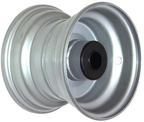 "6""x4.50"" Powdercoated Rim, 2"" Bore, 83mm Hub Length, 2"" x ¾"" Nylon Bushes"